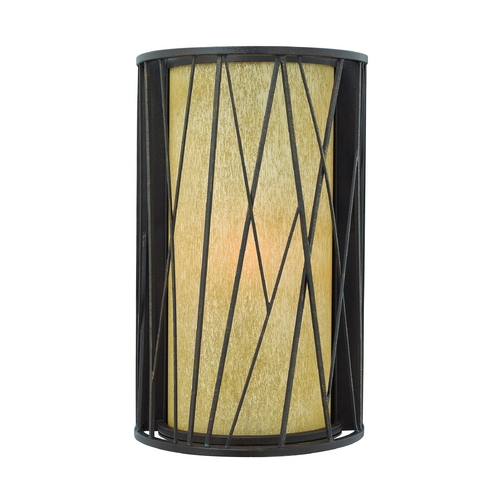 Hinkley Lighting Outdoor Wall Light with Amber Glass in Regency Bronze Finish 1155RB