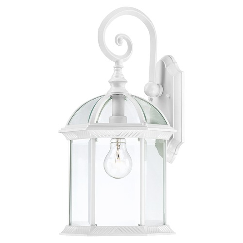 Nuvo Lighting Outdoor Wall Light with Clear Glass in White Finish 60/4964