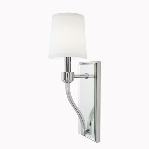 Norwell Lighting Norwell Lighting Roule Polished Nickel Sconce 5611-PN-WS