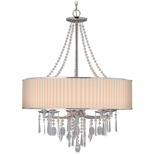 Golden Lighting Golden Lighting Echelon Chrome Chandelier 8981-5 BRI