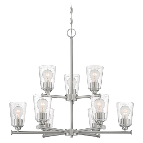Satco Lighting Satco Lighting Bransel Brushed Nickel Chandelier 60/7189