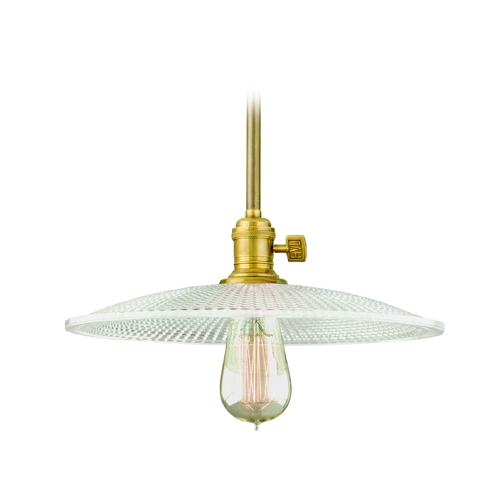 Hudson Valley Lighting Pendant Light with Clear Glass in Aged Brass Finish 9001-AGB-GM4