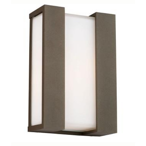 15 inch low profile modern outdoor wall light f854111 destination lighting for Low profile exterior wall lights