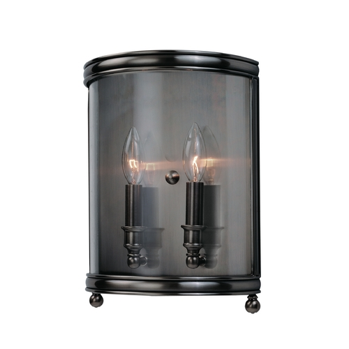 Hudson Valley Lighting Sconce Wall Light with Clear Glass in Historic Nickel Finish 7802-HN
