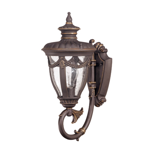 Nuvo Lighting Outdoor Wall Light with Clear Glass in Belgium Bronze Finish 60/2045
