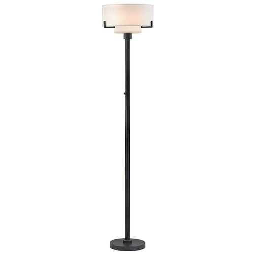 Design Classics Lighting Modern Torchiere Lamp with White Glass in Bronze Finish 7011-78