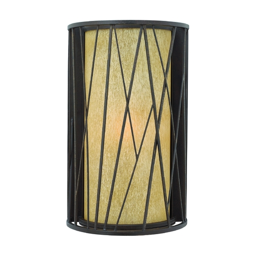 Hinkley Lighting LED Outdoor Wall Light with Amber Glass in Regency Bronze Finish 1155RB-LED