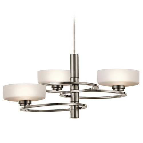 Kichler Lighting Kichler Lighting Aleeka Classic Pewter Pendant Light with Drum Shade 43364CLP