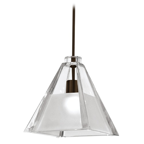 WAC Lighting Wac Lighting European Collection Dark Bronze Mini-Pendant with Square Shade MP-915-CF/DB