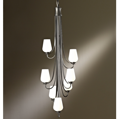 Hubbardton Forge Lighting Hubbardton Forge Lighting Flora Bronze Mini-Chandelier 103037-05-G303