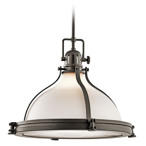 Kichler Lighting Kichler Lighting Hatteras Bay Pendant Light with Bowl / Dome Shade 43768OZ