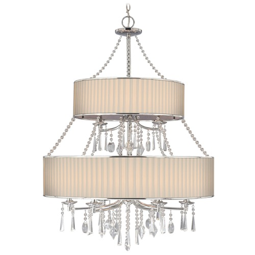 Golden Lighting Golden Lighting Echelon Chrome Chandelier 8981-9 BRI