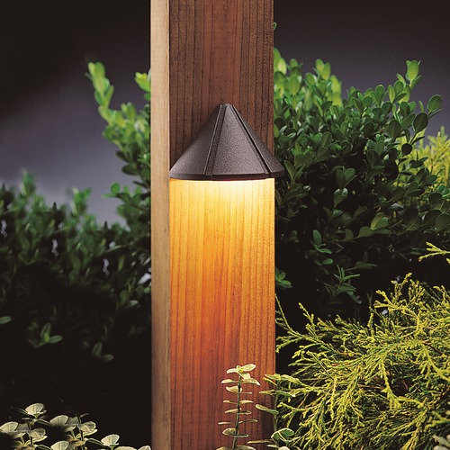 Kichler Lighting Kichler Lighting Textured Architectural Bronze LED Deck Light 15765AZT30R