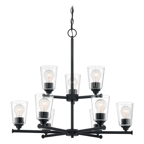 Satco Lighting Satco Lighting Bransel Matte Black Chandelier 60/7289