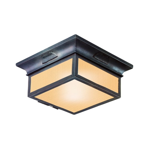 Troy Lighting Close To Ceiling Light with Beige / Cream Glass in Old Bronze Finish CF9000OBZ