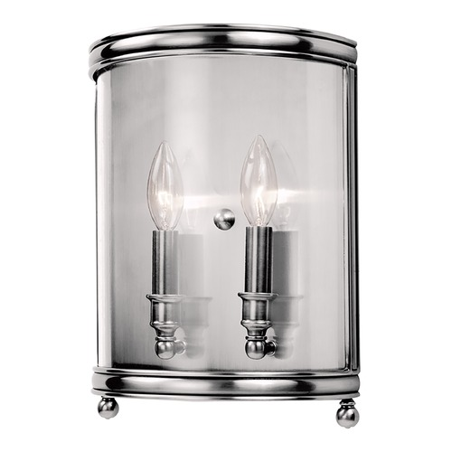 Hudson Valley Lighting Sconce Wall Light with Clear Glass in Polished Nickel Finish 7802-PN