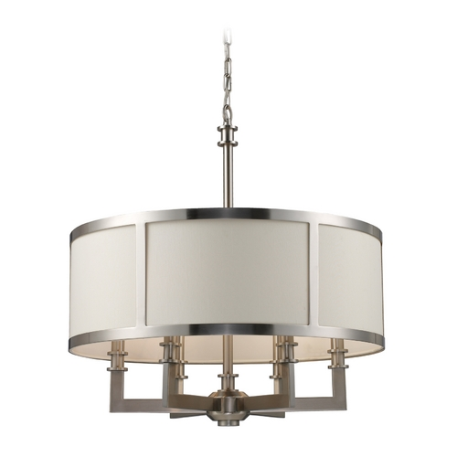 Elk Lighting Seven Springs 6 Light Chandelier In Satin Nickel 20154/6