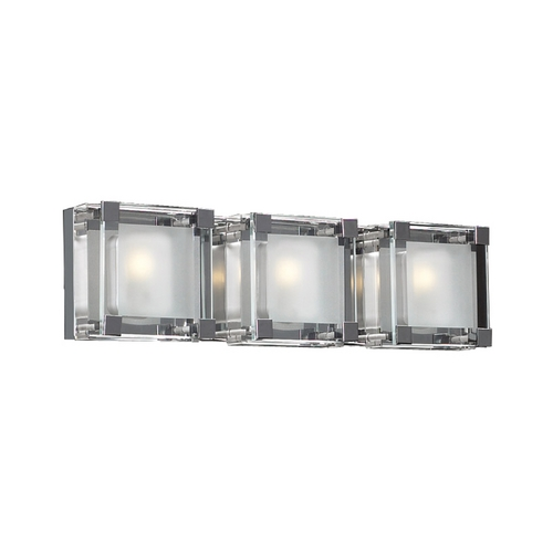 PLC Lighting Modern Bathroom Light with Clear Glass in Polished Chrome Finish 18143 PC