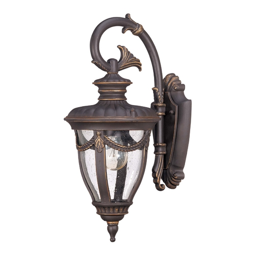 Nuvo Lighting Outdoor Wall Light with Clear Glass in Belgium Bronze Finish 60/2046