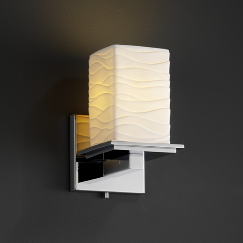 Justice Design Group Justice Design Group Limoges Collection Sconce POR-8671-15-WAVE-CROM