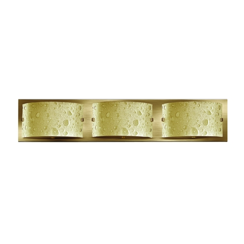 Hinkley Lighting Modern Bathroom Light with Amber Art Glass in Brushed Bronze Finish 5923BR