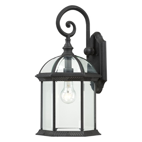 Nuvo Lighting Outdoor Wall Light with Clear Glass in Textured Black Finish 60/4966