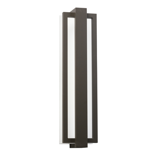 Kichler Lighting Kichler Lighting Sedo Architectural Bronze LED Outdoor Wall Light 49435AZ