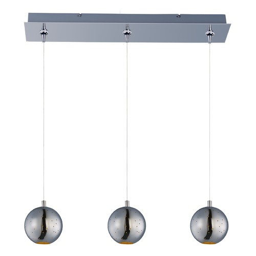 ET2 Lighting Polaris Polished Chrome LED Multi-Light Pendant with Globe Shade E24484-PC