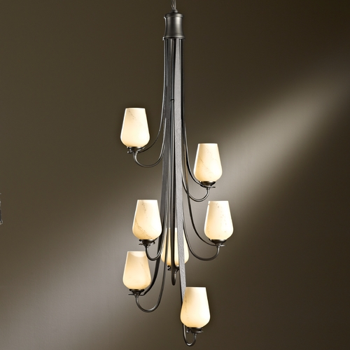 Hubbardton Forge Lighting Hubbardton Forge Lighting Flora Bronze Mini-Chandelier 103037-05-H303