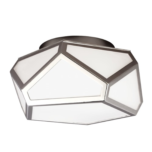 Feiss Lighting Feiss Lighting Diamond Polished Nickel Flushmount Light FM447PN