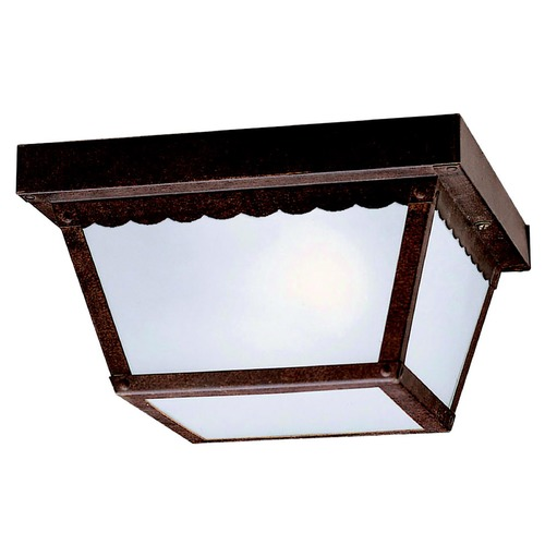 Kichler Lighting Kichler Modern Outdoor Ceiling Light with Clear Glass in Bronze Finish 345TZ
