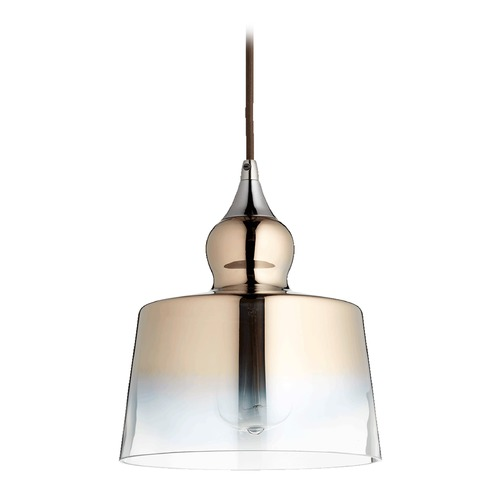 Quorum Lighting Quorum Lighting Gunmetal Mini-Pendant Light with Drum Shade 8001-1311