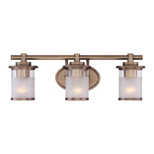 Designers Fountain Lighting Designers Fountain Essense Old Satin Brass Bathroom Light 6693-OSB