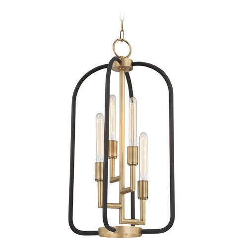 Hudson Valley Lighting Hudson Valley Lighting Angler Aged Brass Mini-Chandelier 8314-AGB