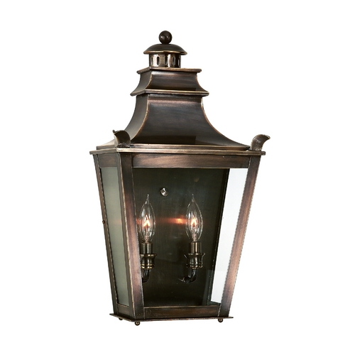 Troy Lighting Outdoor Wall Light with Clear Glass in English Bronze Finish B9494EB