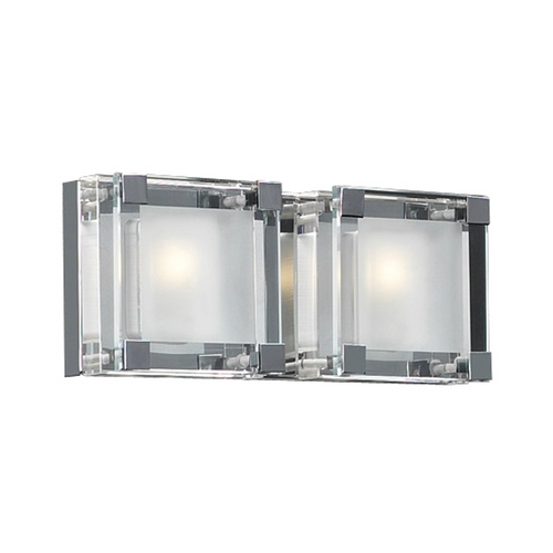 PLC Lighting Modern Bathroom Light with Clear Glass in Polished Chrome Finish 18142 PC