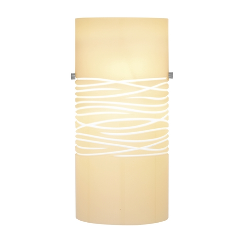 Oggetti Lighting Modern Art Glass Wall Sconce with Cream Shade 82-3015