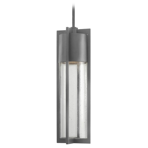 Hinkley Lighting LED Outdoor Hanging Light with Clear Glass in Hematite Finish 1322HE-LED