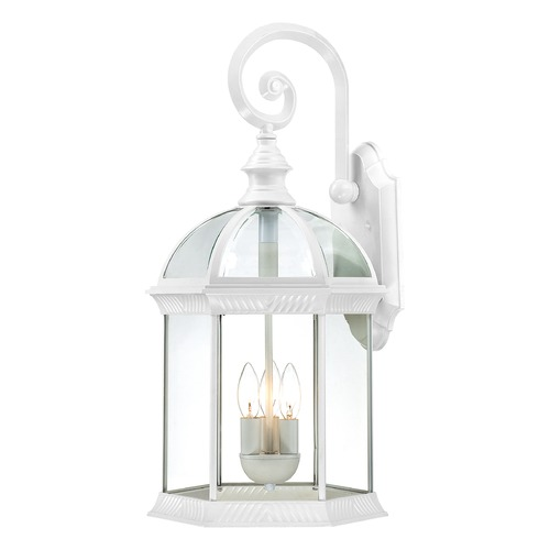 Nuvo Lighting Outdoor Wall Light with Clear Glass in White Finish 60/4967