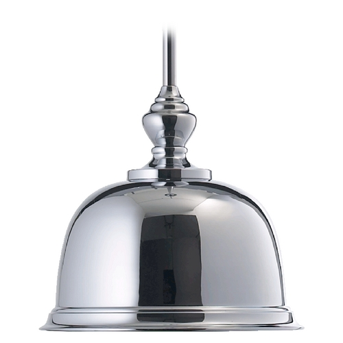 Quorum Lighting Quorum Lighting Chrome Pendant Light with Bowl / Dome Shade 803-14-14