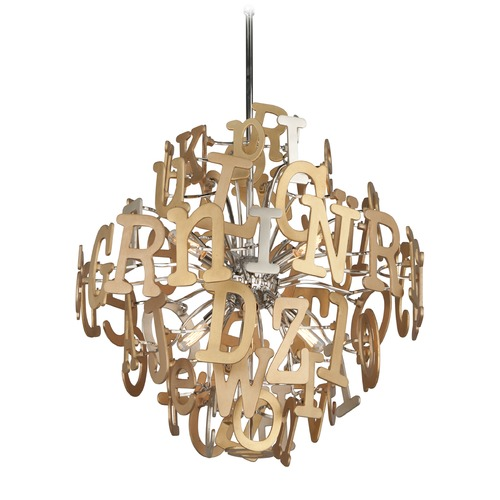 Corbett Lighting Corbett Lighting Media Polished Stainless with Multi-Leaf Pendant Light 208-46