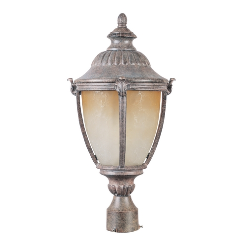 Maxim Lighting Post Light with Beige / Cream Glass in Earth Tone Finish 85181LTET