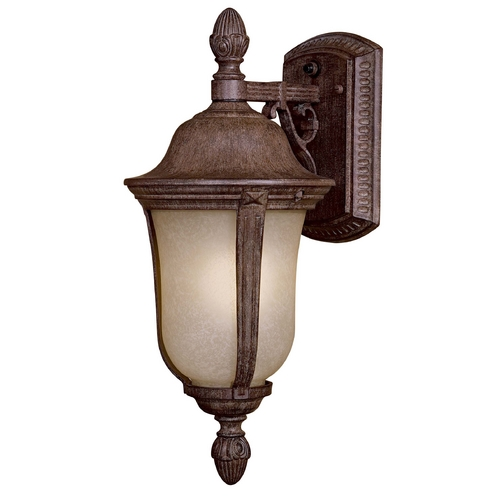 Minka Lighting Outdoor Wall Light with Beige / Cream Glass in Vintage Rust Finish 8997-61-PL