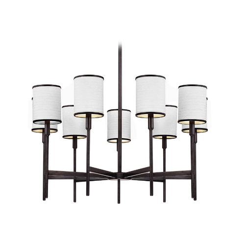 Hudson Valley Lighting Chandelier with White Shades in Polished Nickel Finish 629-PN