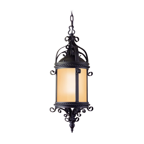 Troy Lighting Outdoor Hanging Light with Clear Glass in Old Bronze Finish FF9124OBZ
