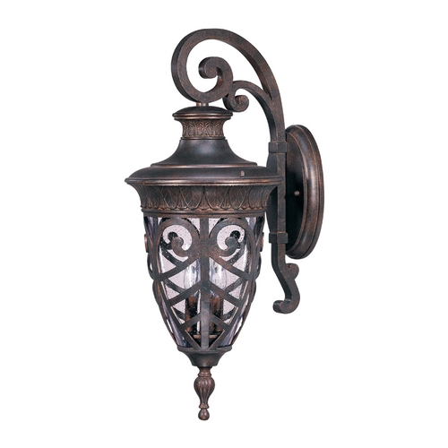 Nuvo Lighting Outdoor Wall Light with Clear Glass in Dark Plum Bronze Finish 60/2052