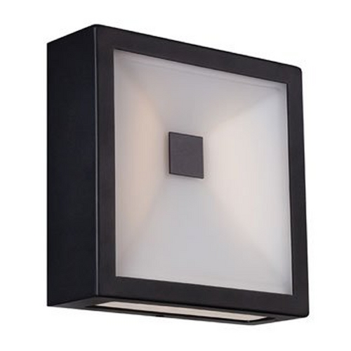 Modern Forms by WAC Lighting Modern LED Square Outdoor Wall Light in Black Finish WS-W1308-BK