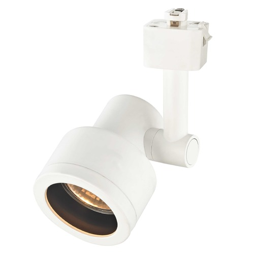 Recesso Lighting by Dolan Designs Stepped Cylinder Track Light Head - White - GU10 Base TR0201-WH