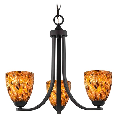 Design Classics Lighting Design Classics Dalton Fuse Neuvelle Bronze Mini-Chandelier 5843-220 GL1005MB
