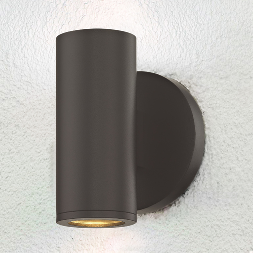 Design Classics Lighting Cylinder Outdoor Wall Light Bronze 1771-BZ